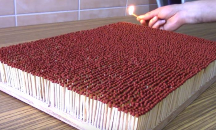 Watch: 6,000 Matches Igniting Each Other in Chain Reaction