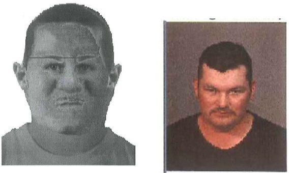 Composite and mugshot of Adan Lopez