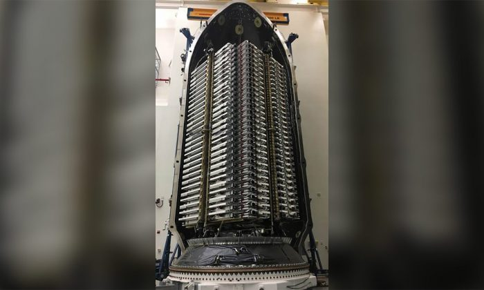 A SpaceX satellite. (Elon Musk/Twitter via CNN)