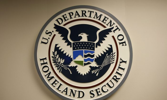 U.S. Department of Homeland Security emblem is pictured at the National Cybersecurity & Communications Integration Center (NCCIC) located just outside Washington in Arlington, Virginia on Sept. 24, 2010. (Hyungwon Kang/Reuters)