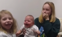 Video: Baby Girl Can't Hide Happiness at Hearing Her Sister's Voice for the Very First Time