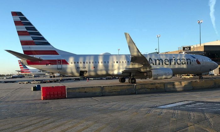 An American Airlines plane sits on the tarmac at Philadelphia International Airport, in Philadelphia, Pa., on Nov. 4, 2018. (Daniel Slim/AFP/Getty Images)