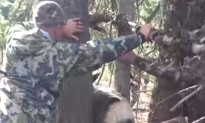 Hunters Rescue Deer Trapped Between Two Trees