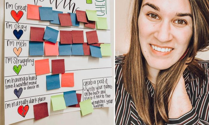 Teacher Makes Mental Health Check-in Chart for Students, It's Creating Waves Globally