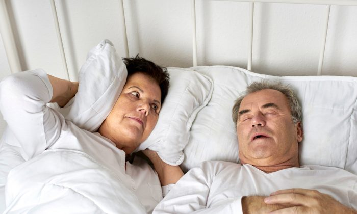 Our respective positions on the question of snoring are, as they say about the War on Terror—asymmetric. (Jenny Storm/Shutterstock)