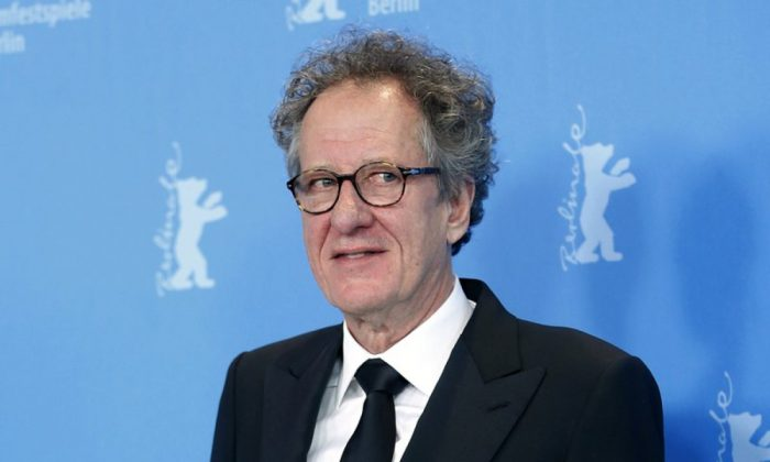 Actor Geoffrey Rush poses at the photo call for the film The Best Offer at the 63rd edition of the Berlinale, International Film Festival in Berlin on Feb. 12, 2013. (Michael Sohn/File photo via AP)