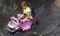 Girl Makes Toy Car Amphibious