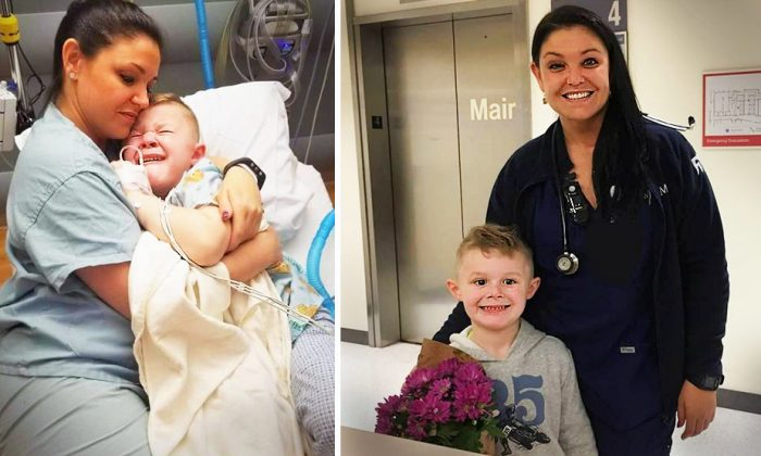 Nurse Sees Sick 5-Yr-Old Crying for Mom in Hospital–Her Amazing Response Goes Viral