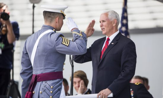 Mike Pence Congratulates West Point Grads