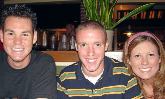 (L-R) Kevin, Ryan, and Kimberly McCall. Ryan McCall was tragically murdered during an attempted robbery in 2009. (Courtesy of the McCall Family)