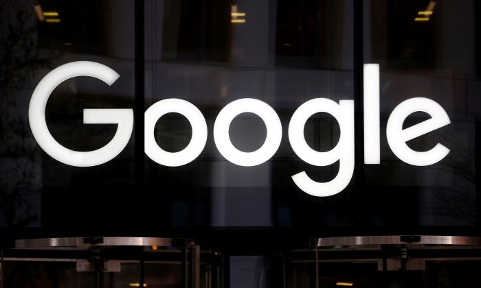 The Google logo is pictured at the entrance to the Google offices in London, Britain January 18, 2019. (Hannah McKay/Reuters)