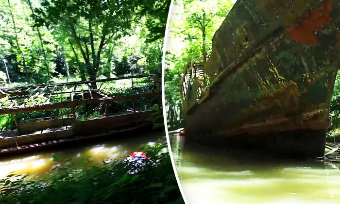 Kayakers Stumble on Abandoned Ghost Ship in Ohio River–You'll Never Believe Where It's Been