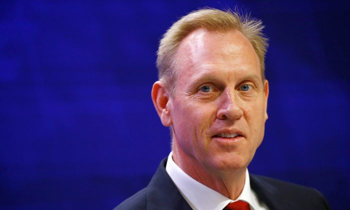 Acting U.S. Defense Secretary Patrick Shanahan looks on during the IISS Shangri-la Dialogue in Singapore, June 1, 2019. (Reuters/Feline Lim)