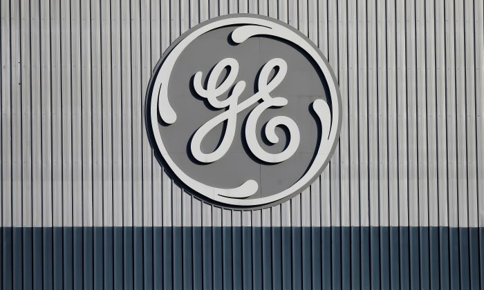 The logo of U.S. conglomerate General Electric is pictured at the company's site of its energy branch in Belfort, France on Feb. 5, 2019. (Vincent Kessler/Reuters)