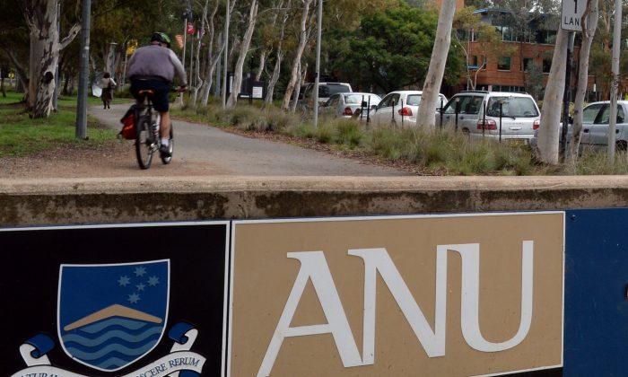 The Australian National University in Canberra on April 11, 2014. (AAP Image/Alan Porritt