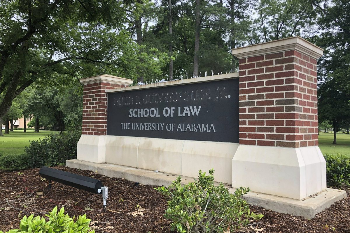 University of Alabama School of Law sign