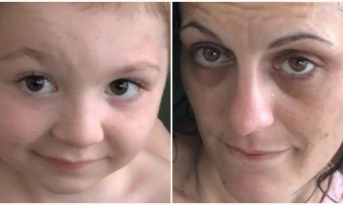 James Dean Welles Jr., 4, (L) and his mother Shannon Dow. (Clay County Sheriff's Office)