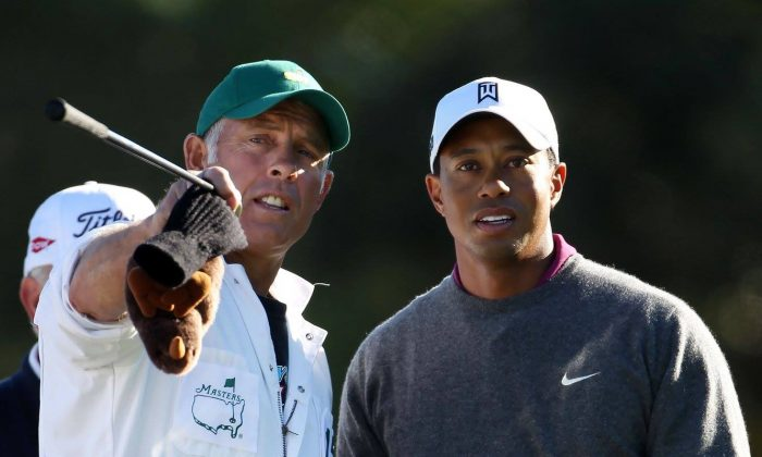 Caddie Steve Williams and golf champion Tiger Woods. ((Gravitas Ventures)