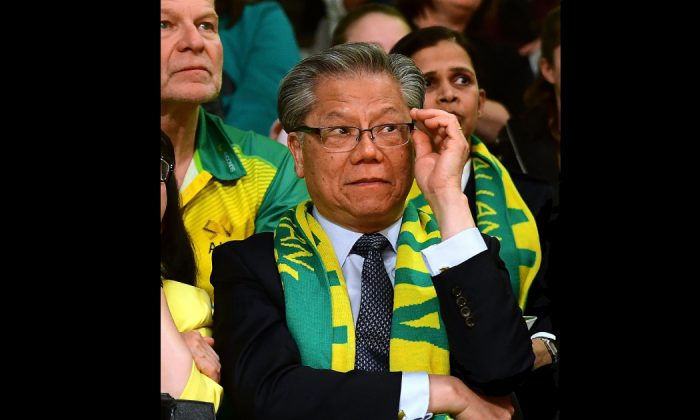 South Australian Governor Hieu Van Le during the 2017 Constellation Cup match between the Australia Diamonds and New Zealand Silver Ferns at Titanium Security Arena on Oct. 11, 2017 in Adelaide, Australia. (Mark Brake/Getty Images)
