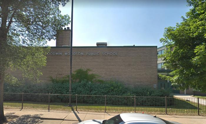e08f39cd271f7 Carter G. Woodson Elementary School in Chicago's Bronzeville neighborhood in  Illinois. (Screenshot/