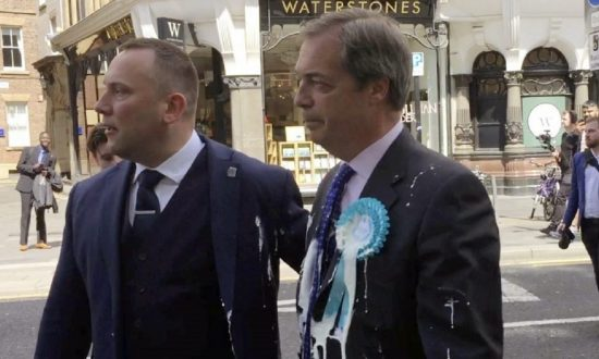 Man Who Hurled Milkshake at Brexit Leader Nigel Farage Pleads Guilty to Assault