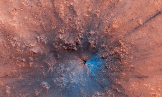 NASA Releases New Image of an Impact Crater on the Surface of Mars