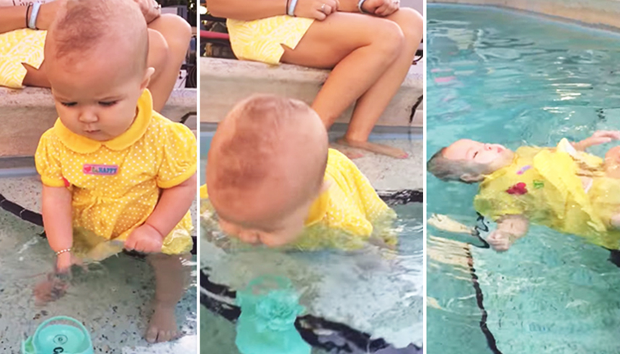 Mom Blasted for Letting Baby Fall Into Pool, Then She Reveals the Sad Truth