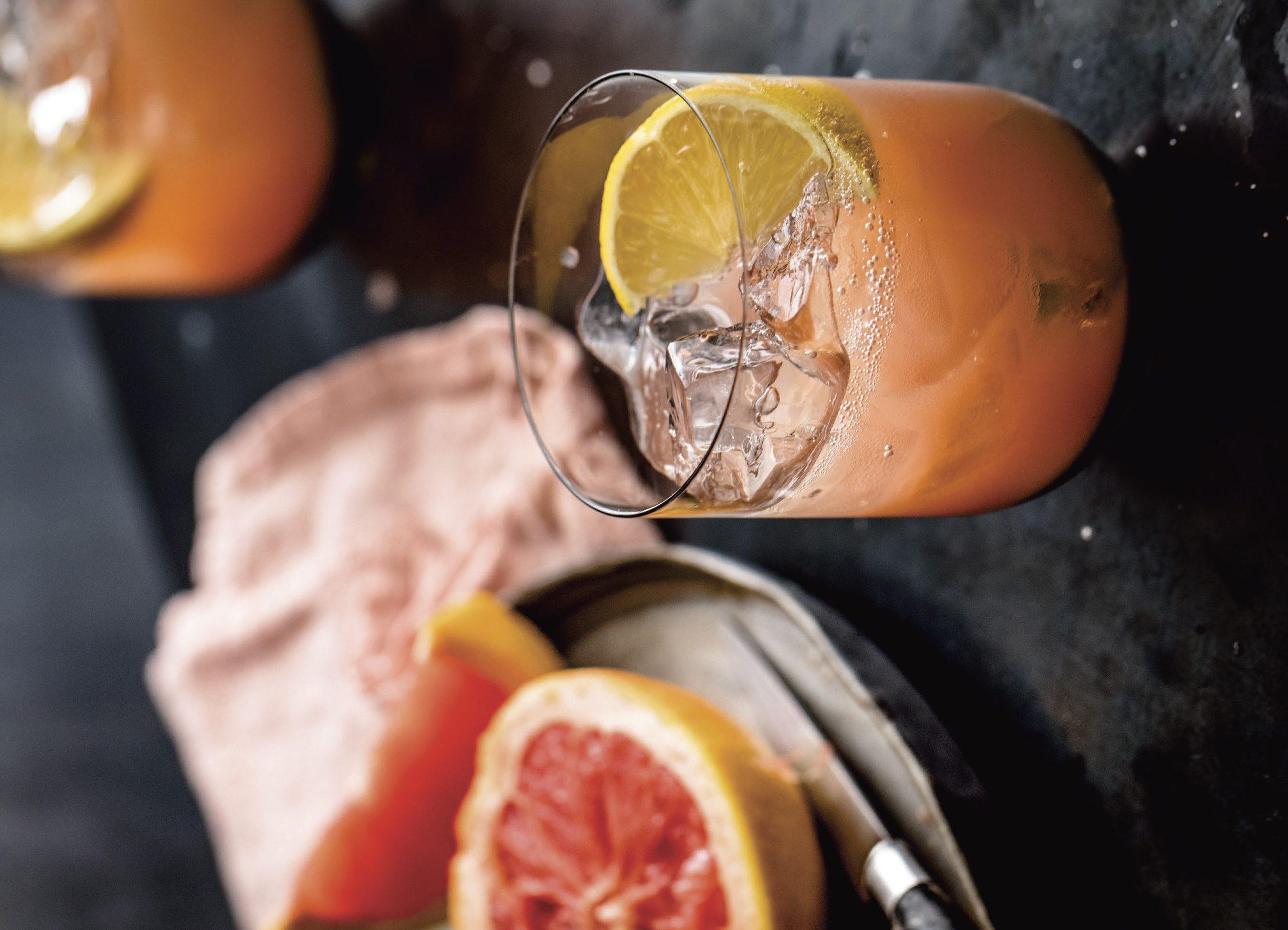 The Blaylock (Honey, Grapefruit, Lemon, and Seltzer)