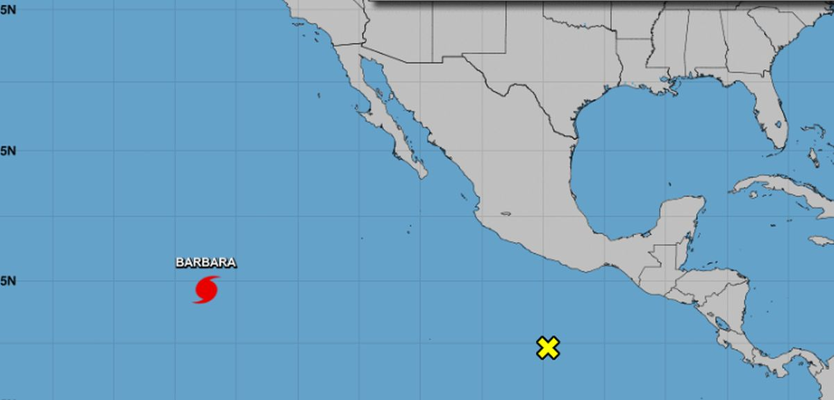 Hurricane Barbara Reaches Category 4 Strength in Pacific