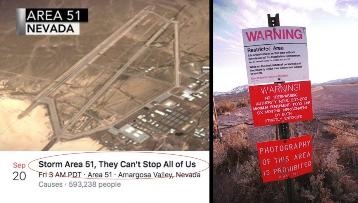 Nearly 300,000 UFO Sleuths Vow to 'Storm Area 51' in Search of Alien Secrets