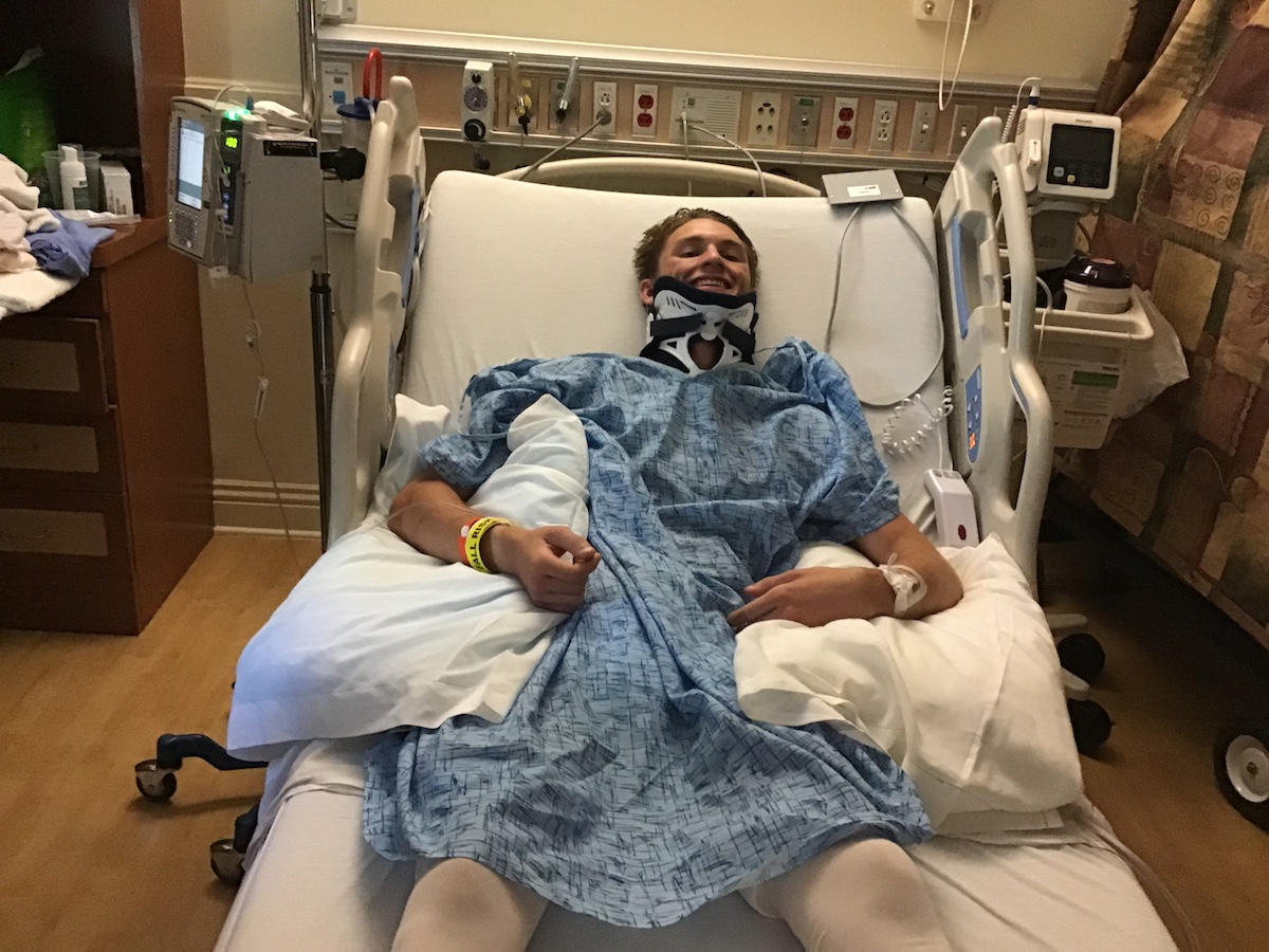 One Step at a Time: Recovering From a Broken Neck