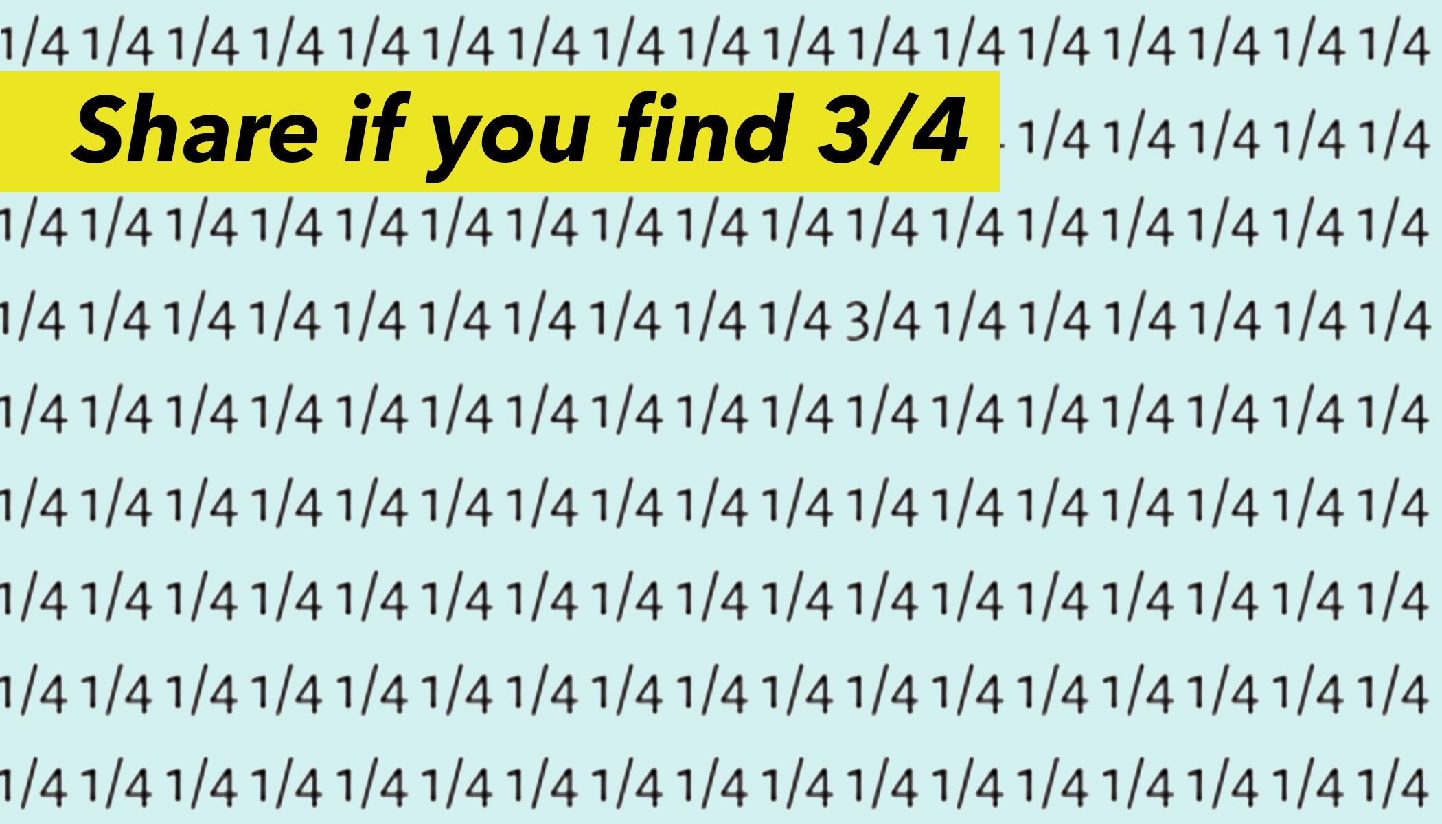 Only People With Eagle Eyes Can Solve This Tricky Puzzle in Less Than 10 Seconds