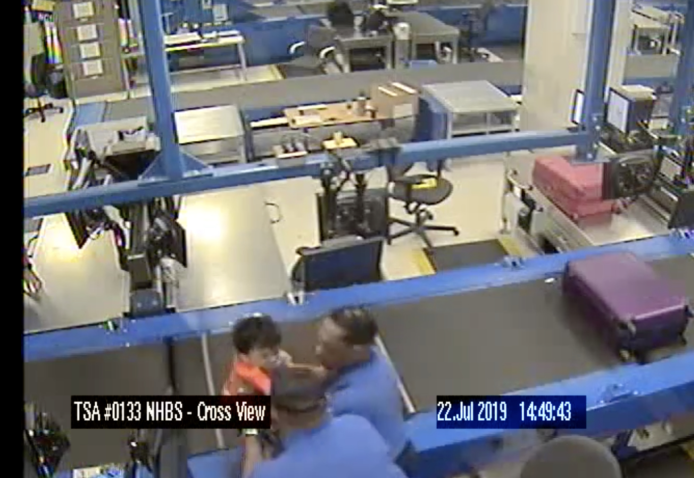 Surveillance Cameras Show Toddler on Atlanta Airport Conveyer Belt