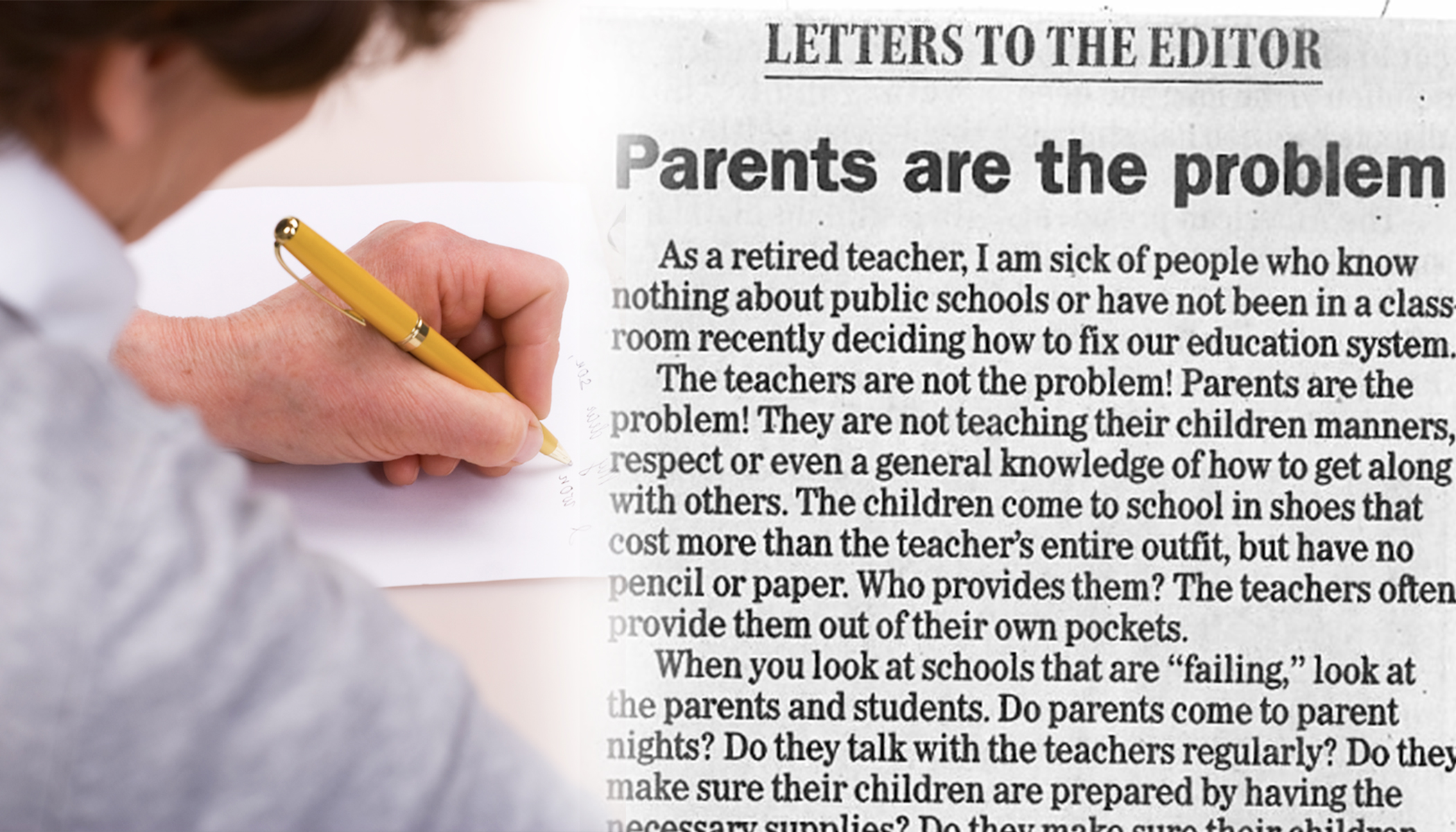 Retired Teacher Says 'Parents Are the Problem,' Her Letter Takes the Internet by Storm