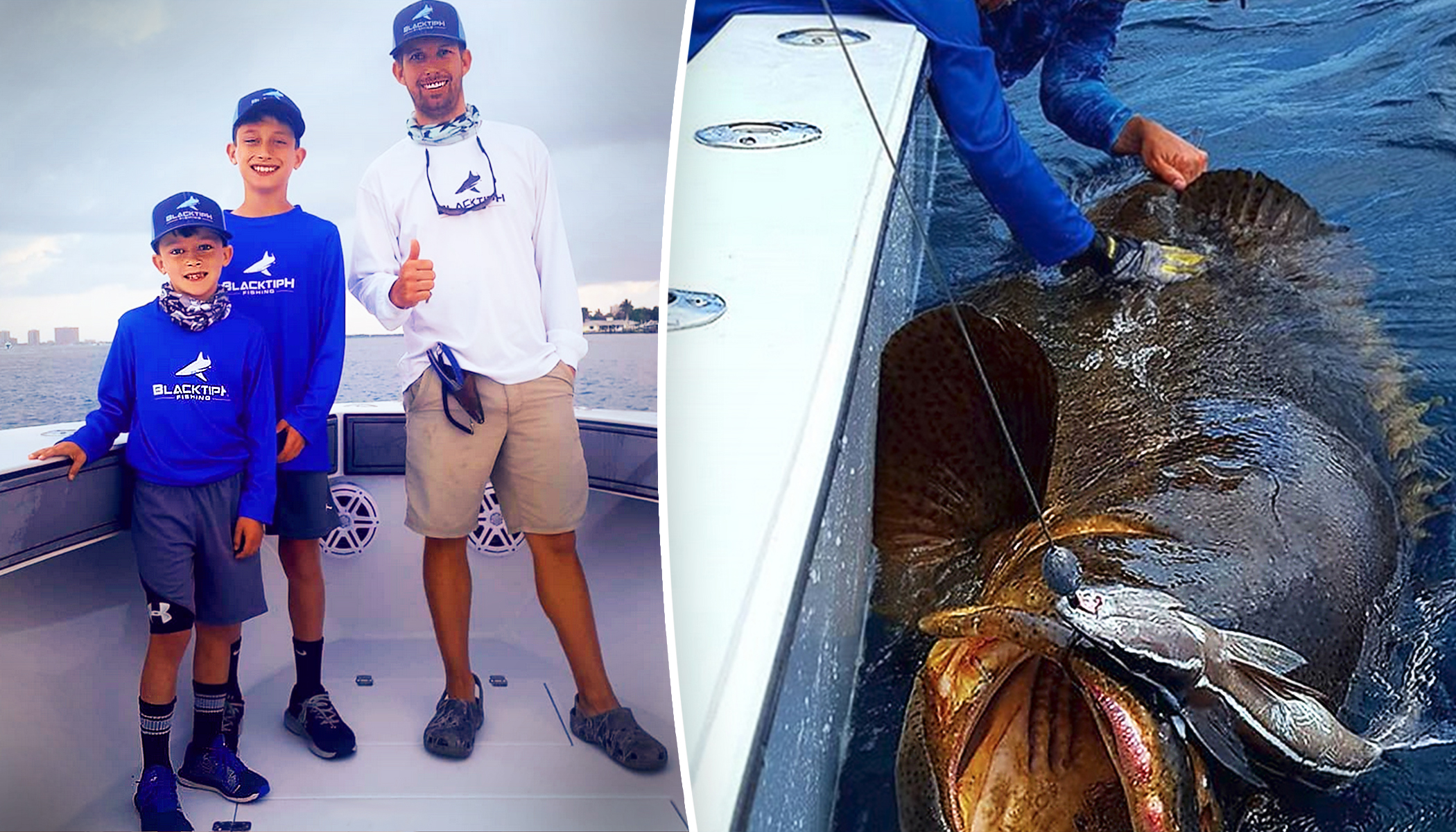 Family Starts Off With a Friendly Fishing Competition–and Ends Up Catching Over 2000lb Haul