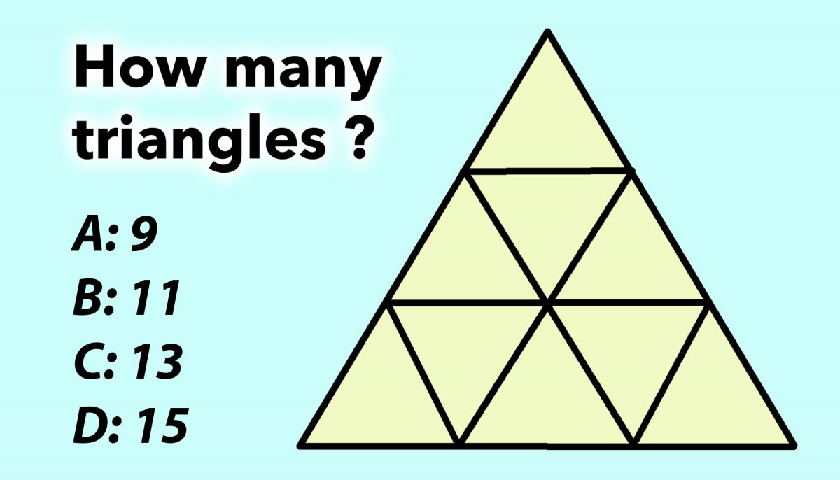 How Many Triangles Do You See? If It's More Than 9, You've Got