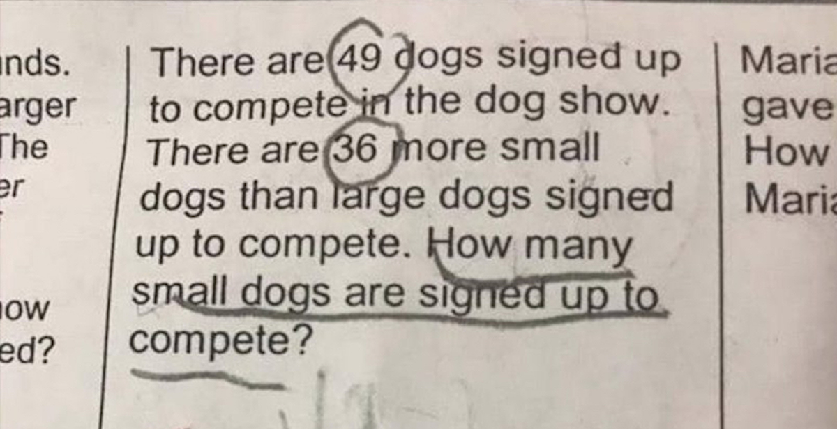 Mom Shares 2nd-Grader's Math Problem Online, and Hardly Anyone Can Solve It
