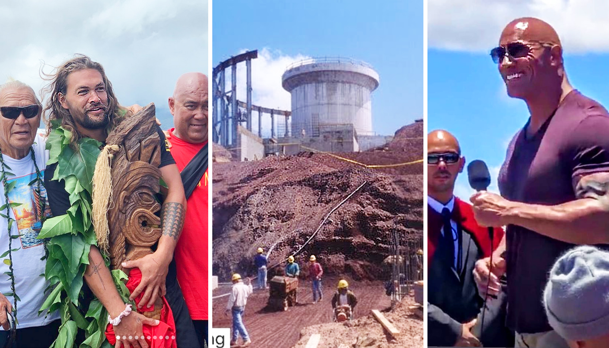 Jason Momoa and Dwayne Johnson Oppose New 'Thirty Meter Telescope' on Sacred Hawaiian Mountain