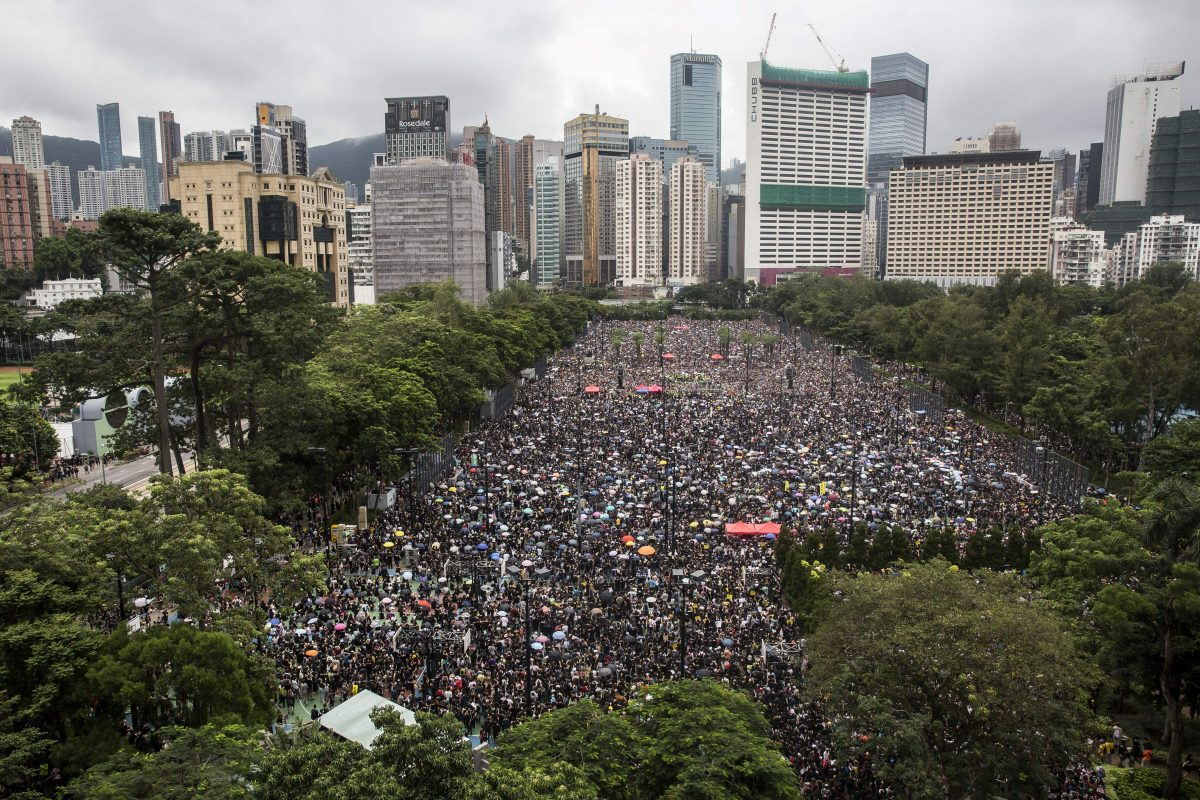 HK protesters march on 11th weekend