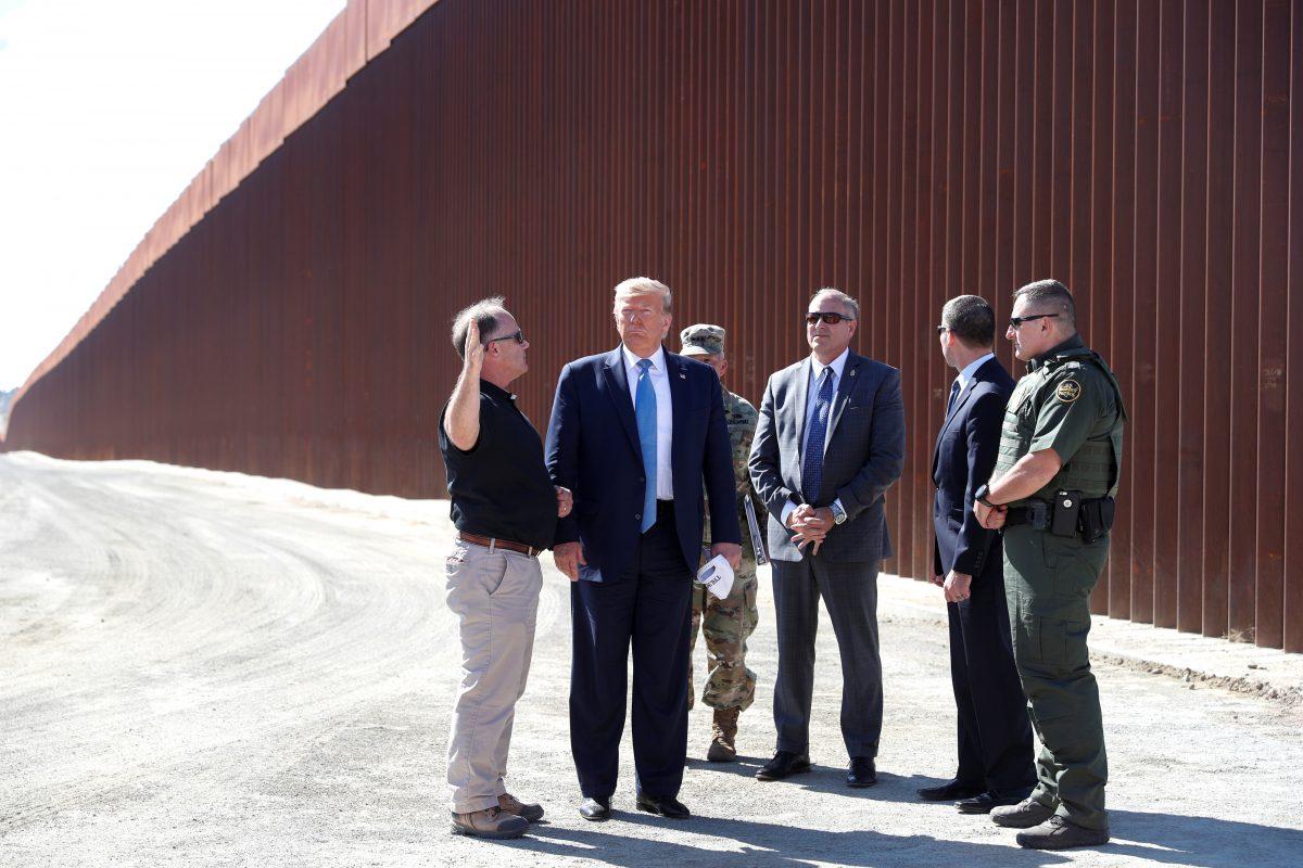 President Donald Trump visits border wall