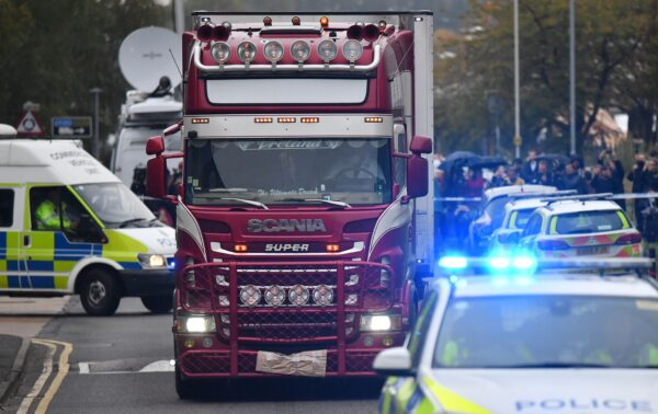 A truck with 39 dead bodies found in London