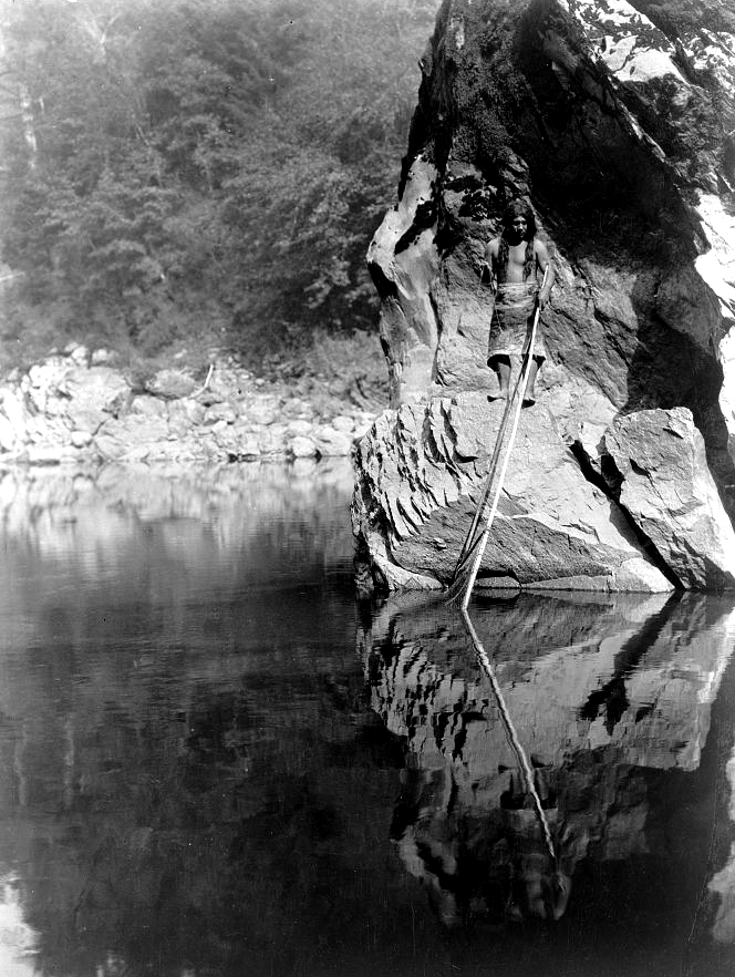 Quiet waters--Yurok, c1923. (Edward S. Curtis/Library of Congress)